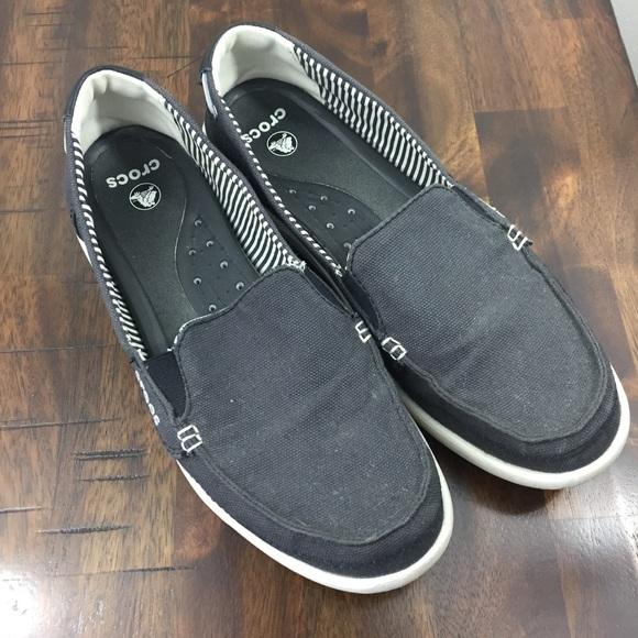 a6b0c8bc688 CROCS Shoes - Women s Walu Canvas Navy Crocs Loafers